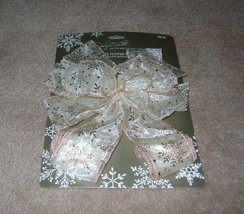 Jaclyn Smith Collection Golden Radiance Tree Topper Bow - $8.00
