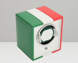 WOLF 1.8 Navigator Italian Flag Single Cub Watch Winder 471504 Free US Shipping - $215.00