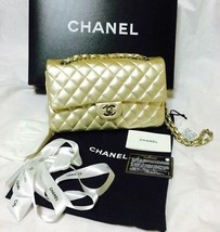 CHANEL Matelasse 25 Chain Shoulder Bag Gold Lambskin Woman Luxury Auth U... - $4,581.25