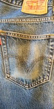 Levi's 505 Zip Fly 34 x 29 Blue Jeans 100% Cotton nicely broken In - $15.79