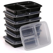 Bento Food Storage Container 3 Compartment 10 Piece - $16.62