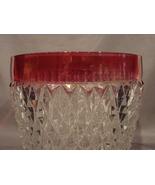 Ruby Flash Indiana Glass Diamond Point 5.5 Inch Ice Bucket - $8.99
