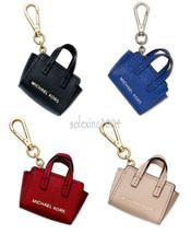 Michael Kors SELMA Handbag Purse Tote Bag Leather Key Fob Chain Charms NEW - $38.00