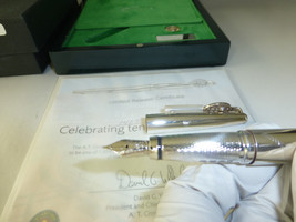 VINTAGE STERLING SILVER LIMITED EDITION TENNIS HALL OF FAME FOUNTAIN PEN... - $490.05