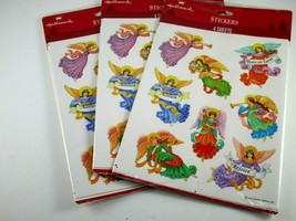 Hallmark Angel Stickers Lot of 3 Packages 4 Sheets Each - $9.90
