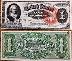 LOT OF 2 Reproduction 1886 $1 Bill Martha Washington,Silver Cert, High R... - $9.99