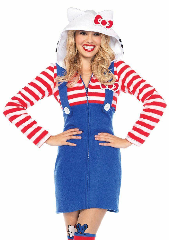 Leg Avenue Hello Kitty Cómodo Kawaii Vestido Adulto Mujer Disfraz Halloween