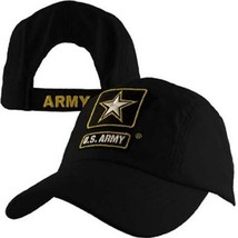 U.S. Army with Army Star Lightweight Baseball Cap Hat Officially Licensed - $12.95
