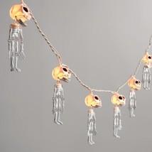 Set of 10 Dangling Skeletons Bones String Lights New Halloween Indoor Ou... - $519,38 MXN