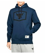 Under Armour Mens Project Rock Warm-Up Hoodie 1346067-408 Academy/Black NWT - £36.69 GBP