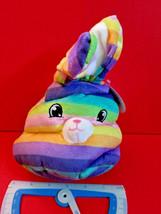 Rainbow Bunny Head Plush Easter Rabbit Stuffed Animal Goffa Soft New Toy Holiday - $5.69