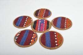 kilim coasters ,Coaster,new year gift, 4,5'', handmade coaste ,homedecor coaster - $29.00