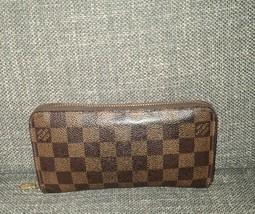 Authentic Louis Vuitton Damier Ebene Zippy Wallet - $359.99