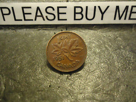 1951 CANADIAN CENT COIN    ****     >> COMBINED SHIPPING  - $1.73