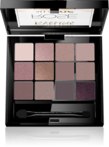EVELINE Eyeshadow Palette 12 All In One ROSE PINK INTENSELY PIGMENTED SA... - $16.48
