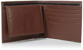Tommy Hilfiger Men's Leather Wallet Passcase 31TL22X063 Tan New /w Defect
