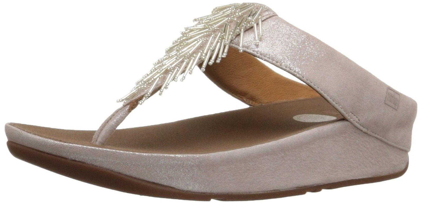 FitFlop Women's Cha Cha Flip Flop, Silver, 10 M US