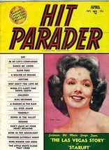 Hit Parader  Music Book  April 1952 Piper Laurie Cover  - $11.88