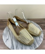 Sperry Top Sider Coco Beige Gold Striped Espadrille Flats Womens Size 8.5 - $29.95