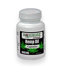 Rosebudz Extracts Hemp Oil Capsules 1500 mg (Great for Stress and Anxiety), - $29.17
