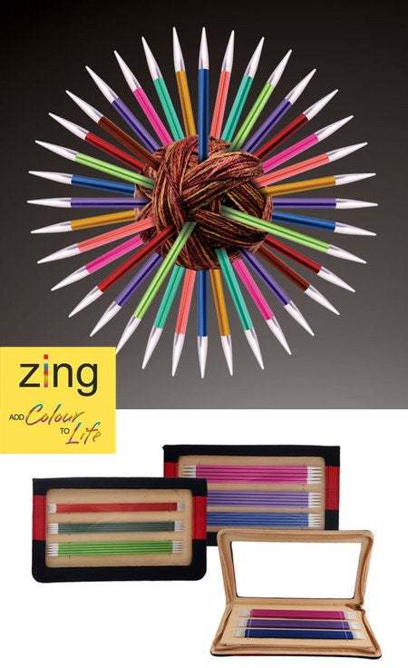 Primary image for KnitPro Zing DPN Sets: Colorful, Lightweight Aluminum Double-Pointed Knitting Ne
