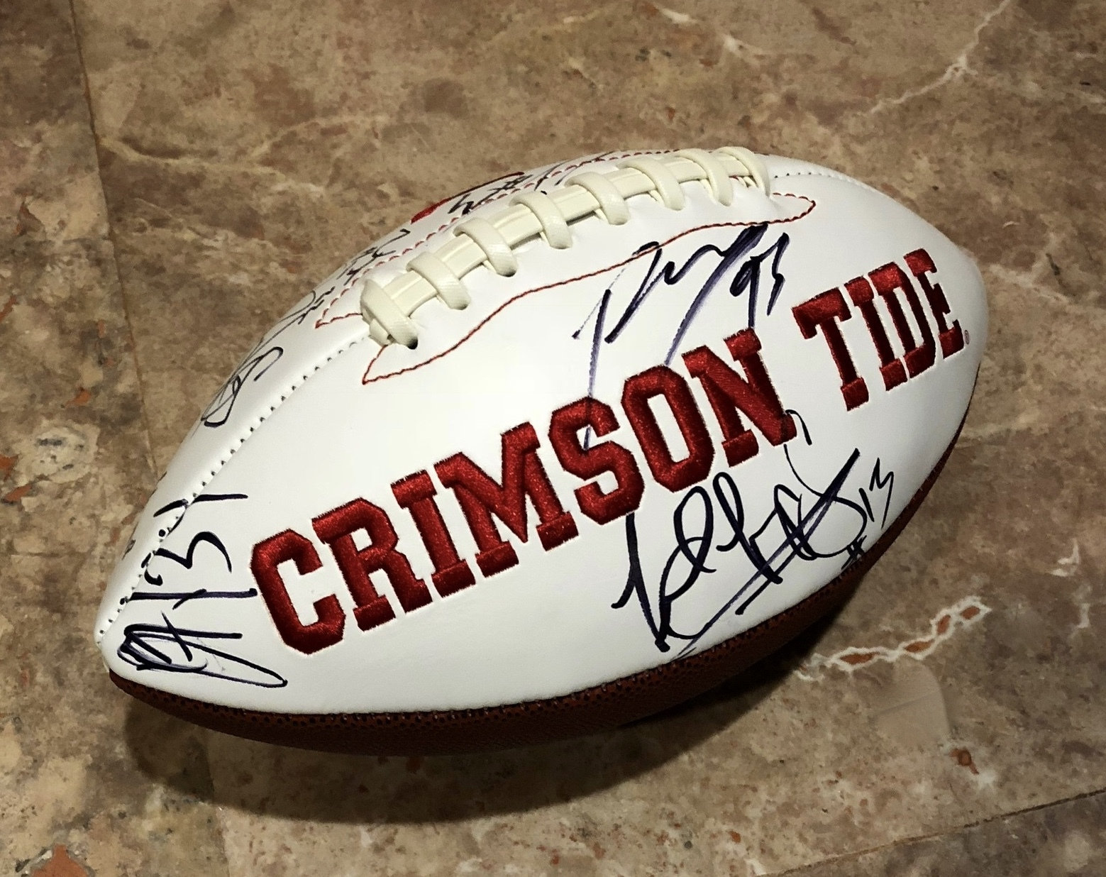 2017-18 ALABAMA CRIMSON TIDE TEAM SIGNED Autographed FOOTBALL CHAMPS TUA w/COA
