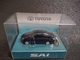 TOYOTA SAI LED Light Keychain Dark blue Pull Back Mini Car  Not Sold in stores - $24.02
