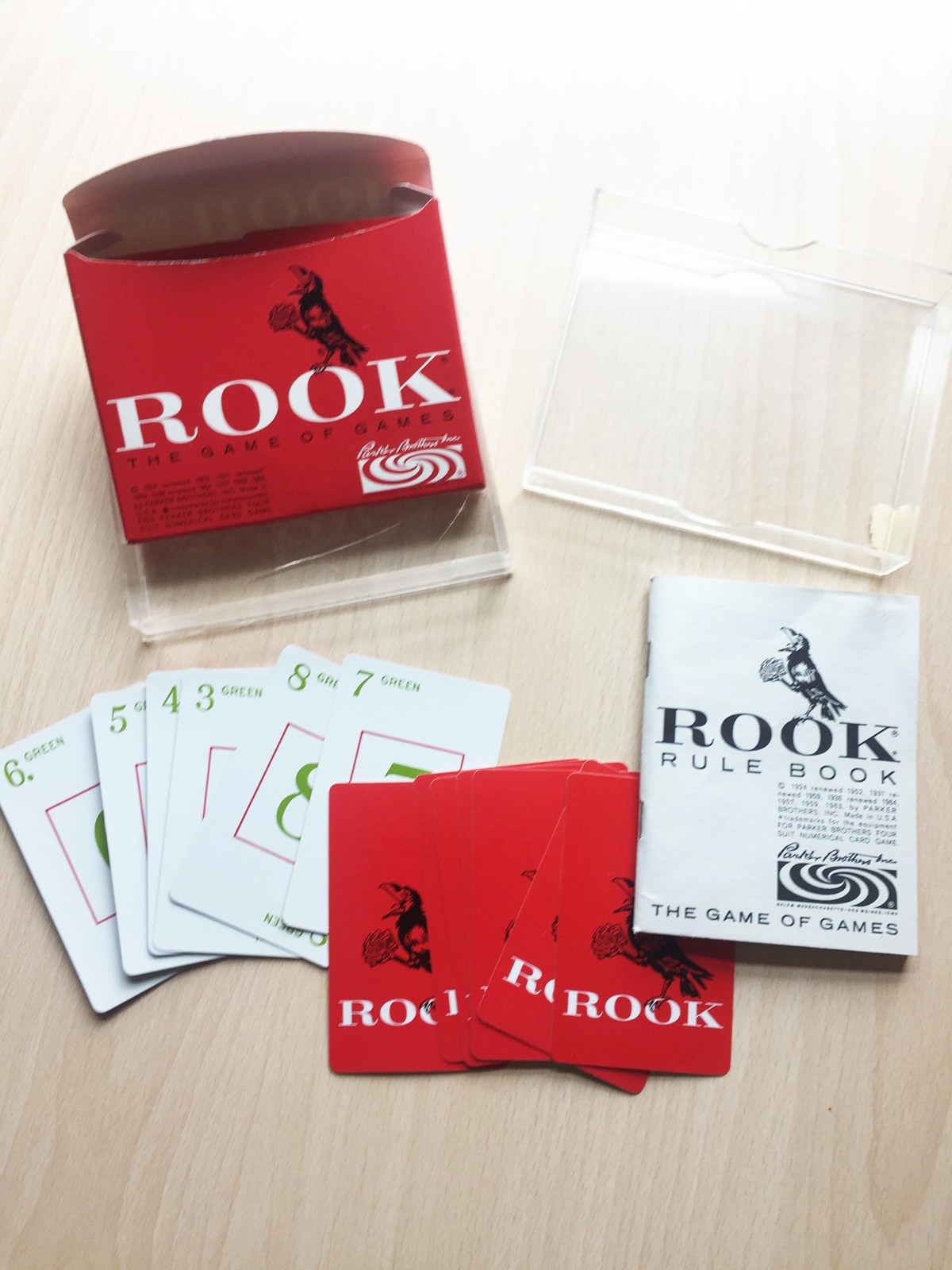 Primary image for 1963 ROOK (The Game of Games) Red Box Card Set in acrylic case