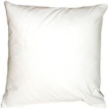 Pillow Decor - Caravan Cotton White 20x20 Throw Pillow - $29.95