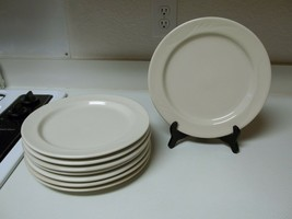 Anfora Mexico Stoneware ~ Set of 8 Dinner Plates ~ Beige Light Tan 10 1/... - $74.24
