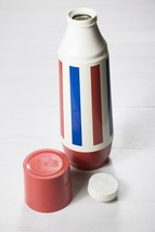 Vintage Thermo-Serv July 4th Thermos ~ Red, White, Blue Mug Bottle - $18.99