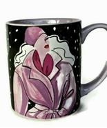 Coffee Mug Cup Fashion Diva GHA Collection Griffel  Back Lavender Lid 226 - $14.99
