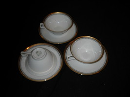 Jahre  BAREUTHER Waldsassen cups and saucers- GOLD TRIM (8  sets available) - $29.99