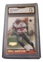 2002 Topps Emmitt Smith Debut GMA Graded 7.5 NM+ Football Card number 130  - $7.75