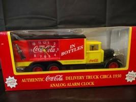 Vintage 1996 Coca Cola 1930 Coke Delivery Truck Anolog alarm clock  orig... - $39.77