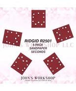 RIDGID R2501 1/4 Sheet 5-Pack Sandpaper Blowout! 17 Grits! Free Ship! - $5.38