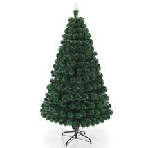 Costway 5'/6'/7' Pre-Lit Fiber Optic Artificial Christmas Tree w/Multico... - $89.73