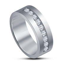 Men's Special Wedding Band Ring White Gold Plated 925 Pure Silver Free Shipping - $63.99