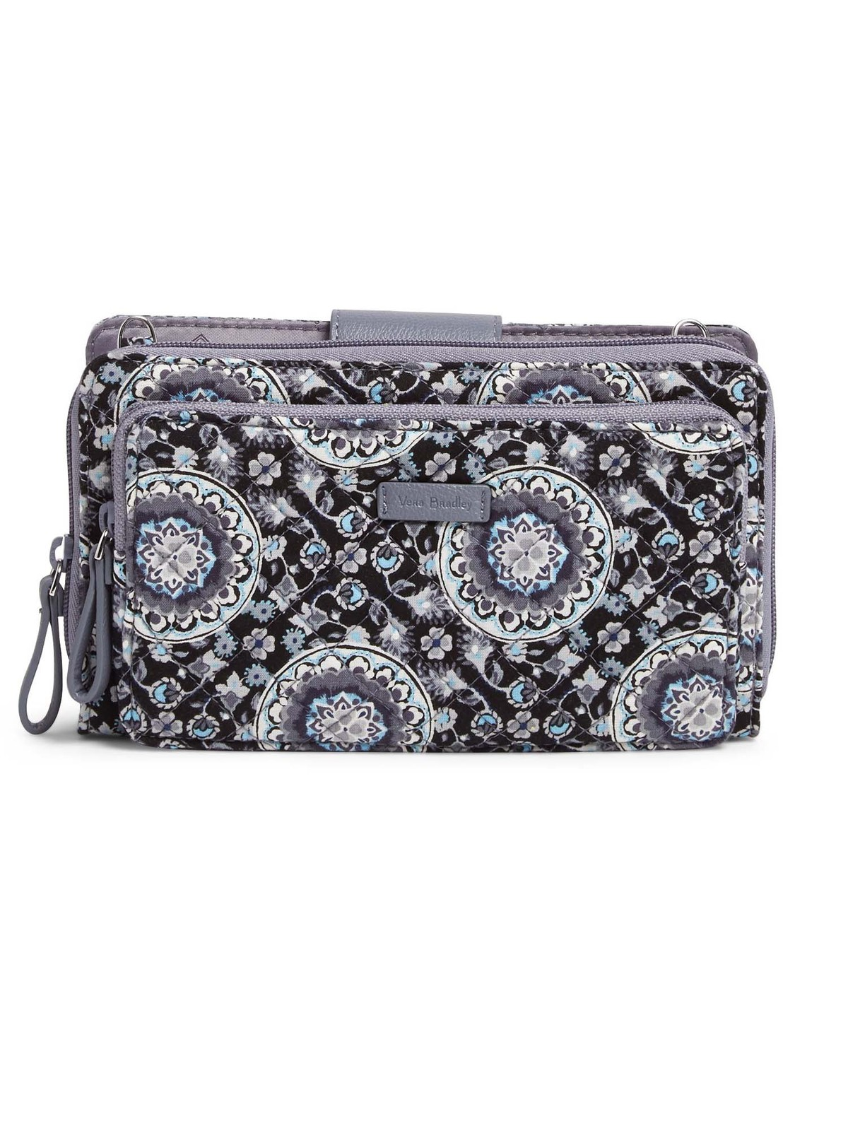 Vera Bradley Iconic Deluxe All Together Crossbody Bag, Charcoal Medallion