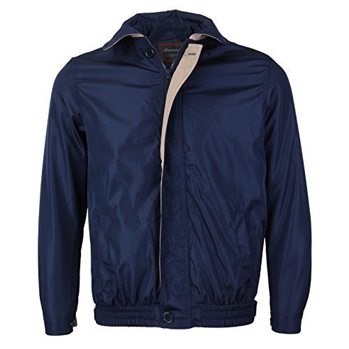 Men's Microfiber Golf Sport Water Resistant Zip Up Windbreaker Jacket Benny (M,