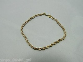 Vintage Gold Tone Coil Metal Bracelet - 7 inches in length - $5.94