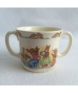 Royal Doulton Bunnykins Two Handled Cup Bunnies in Hat Shop Bone China E... - $10.00