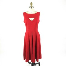 M - TATYANA Red & White MEGAN Open Front Circle 50's Retro Pin Up Dress ... - $239.99