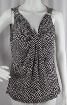 Michael Kors women's top brown black sleeveless size S/P - $16.68