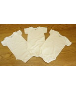Carter's Set of 3 White One-piece NB Cotton - $7.56