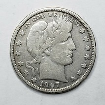 1907D Denver Mint Silver Barber Half Dollar Coin Lot A 178 image 1