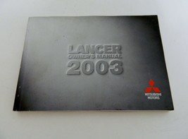 2003 Mitsubishi Motors Lancer Owner's Manual  - $9.89