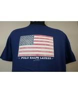 VTG Polo Ralph Lauren T Shirt Medium Spell Out 90's Flag Sport Bear Stadium - $29.99