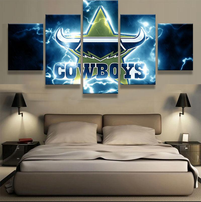 Dallas Cowboys Star Lighting 5 Piece Canvas Art Wall Art