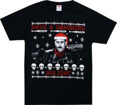 Walking Dead Negan Have A Smashing Holiday Christmas Santa Bat Adult T T... - $27.95+